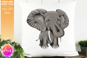 Hand Drawn Elephant - Sublimation/Printable Design