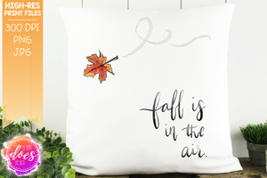 Fall is in the Air Watercolor Print - Sublimation/Printable Design