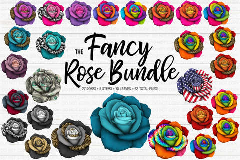 The Fancy Rose Bundle - Includes 42 files! - Sublimation/Printable Design