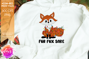 For Fox Sake - Tangled in Lights - Printable/Sublimation Files