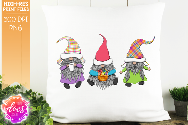 Bright Easter Gnomes  - Sublimation/Printable Design