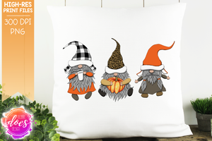 Leopard Plaid Fall Gnomes  - Sublimation/Printable Design