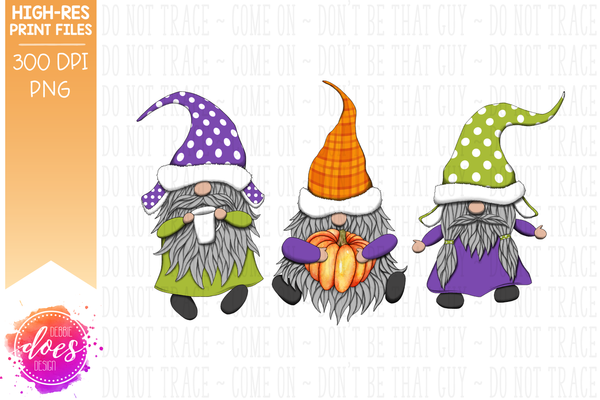 Purple Fall Gnomes  - Sublimation/Printable Design