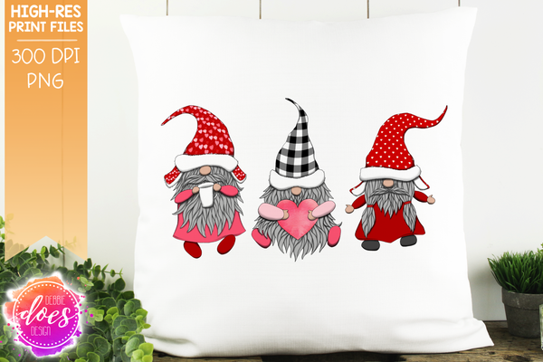 Valentine's Day Gnomes  - Sublimation/Printable Design