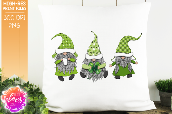 St.Patrick's Day Gnomes  - Sublimation/Printable Design