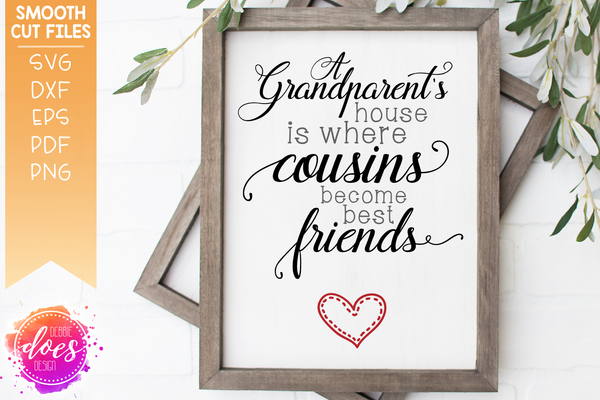 Grandparent's House - Cousins Become Best Friends - SVG File