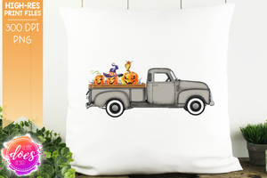Halloween Truck - Grey - Sublimation/Printable Design