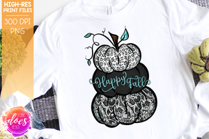 Happy Fall - Lacey Pumpkins - Printable/Sublimation File