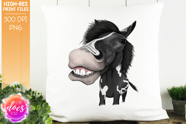 Happy Horse - Black Paint - Sublimation/Printable Design