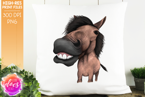 Happy Horse - Red Roan - Sublimation/Printable Design