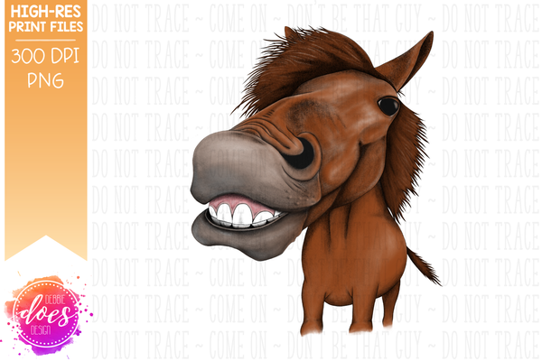 Happy Horse - Sorrel - Sublimation/Printable Design