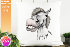 Happy Horse - White - Sublimation/Printable Design