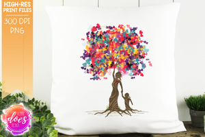 Girl Heart Scatter Tree of Love - Sublimation/Printable Design