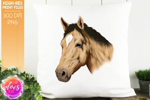 Hand Drawn Horse - Buckskin - Sublimation/Printable Designs
