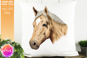 Hand Drawn Horse - Palomino - Sublimation/Printable Designs