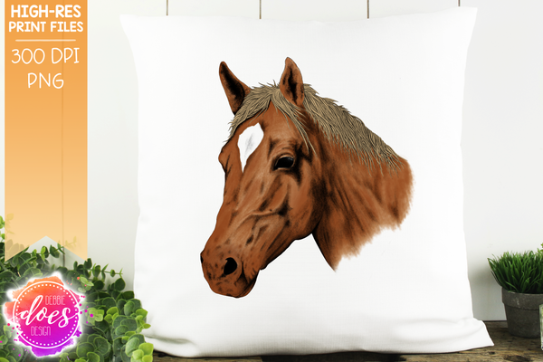 Hand Drawn Horse - Sorrell - Blonde - Sublimation/Printable Designs
