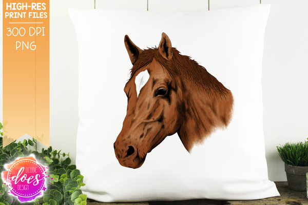 Hand Drawn Horse - Sorrell - Sublimation/Printable Designs