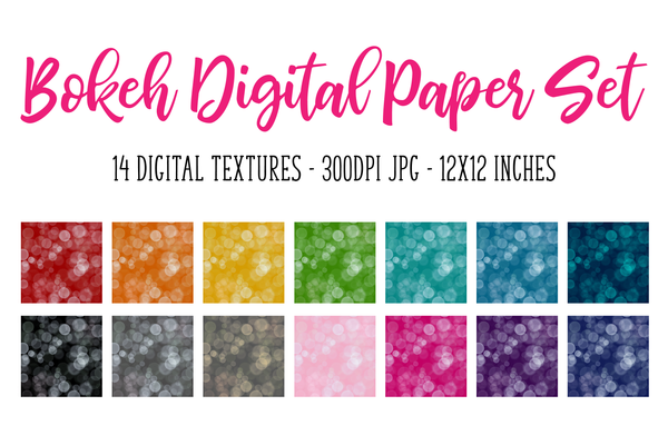 Light Bokeh Digital Paper/Texture Set - Design Elements
