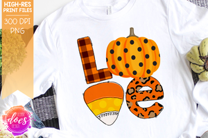 Love Pumpkin Leopard - Sublimation/Printable Design