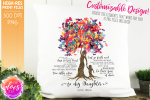 Love You for the Rest of Mine Heart Scatter Tree - Customizable Girl Kit - Sublimation/Printable Design