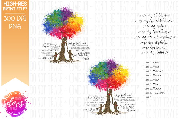 Love You for the Rest of Mine Paint Splatter Tree - Customizable - Boy & Girl Kit - Sublimation/Printable Design