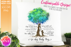Love You for the Rest of Mine Paint Splatter Tree - Customizable Boy Kit - Sublimation/Printable Design