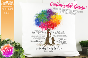 Love You for the Rest of Mine Paint Splatter Tree - Customizable Girl Kit - Sublimation/Printable Design