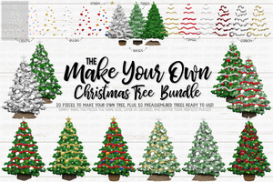 Make Your Own Christmas Tree Bundle - Sublimation/Printable Design