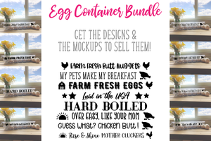 Egg Container Bundle - SVG Files & Mockups!