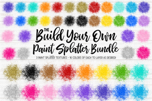 The Build-Your-Own Paint Splatter Bundle - Includes 48 files! - Design Elements