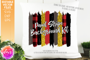 Paint Stripe Background Kit - Editable Vector Files - Design Elements