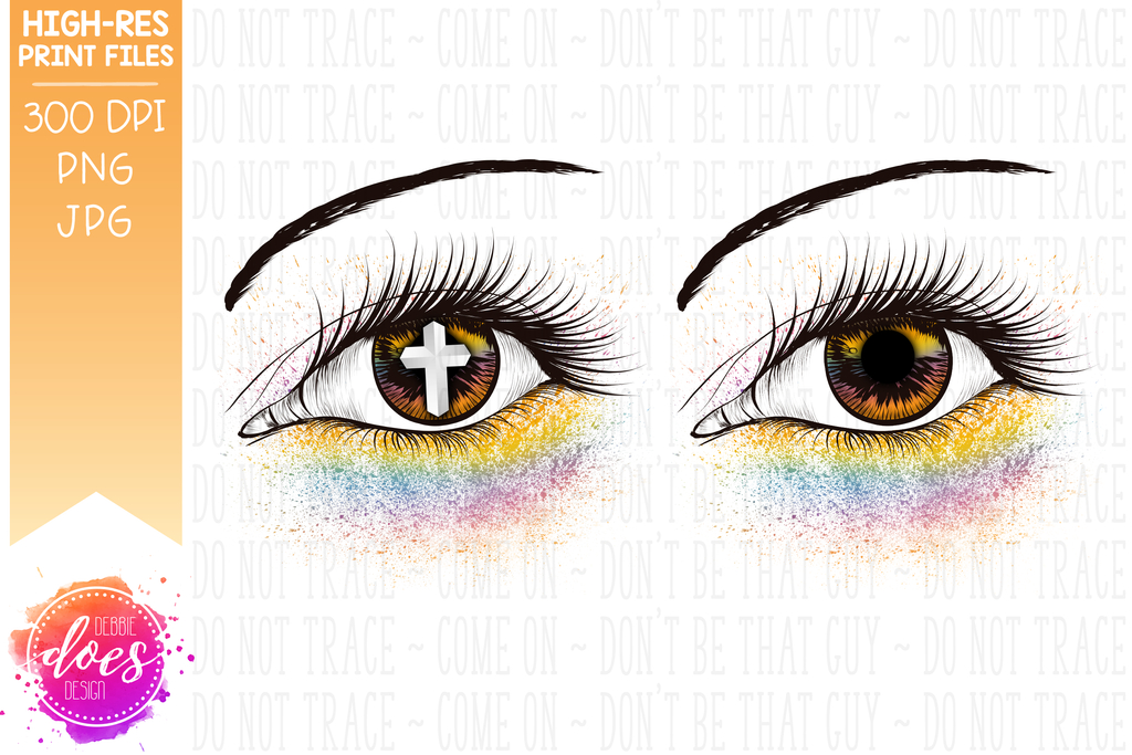 photo about Printable Eye known as Pastel Eye Structure - Printable/Sublimation Report