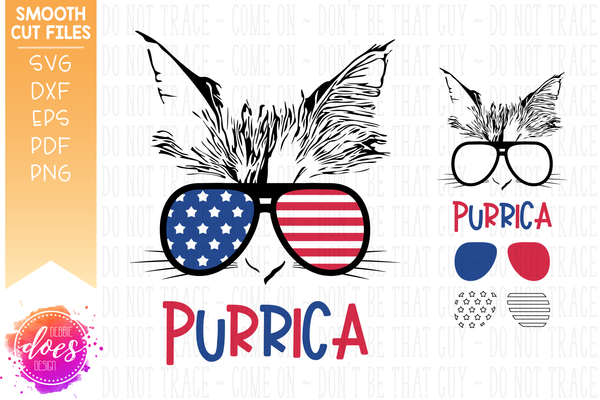 Purrica Cat - SVG File