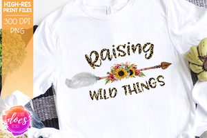 Raising Wild Things - Leopard Arrow - Sublimation/Printable Design