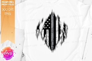 Ripped Shirt - Thin Grey Line - Corrections - Sublimation/Printable Design