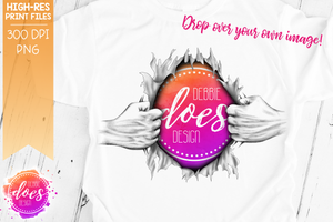 Ripping Shirt Hands - Add Your Own Image! - Sublimation/Printable Design