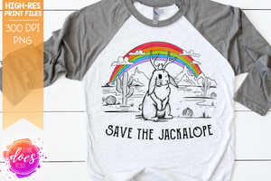 Save the Jackalope - Sublimation/Printable Design