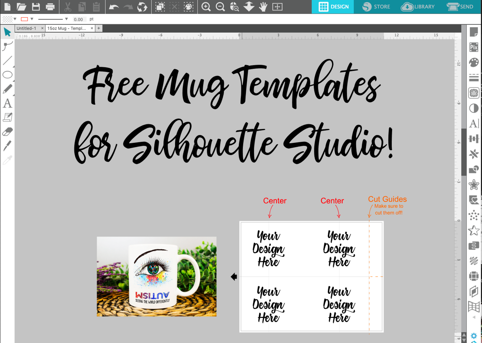 Free Silhouette Sublimation Mug Templates Debbie Does Design