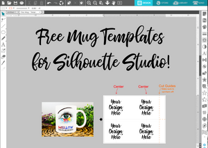 Free Silhouette Sublimation Mug Templates