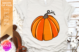 Hand Drawn Pumpkin - Sectioned - SVG File