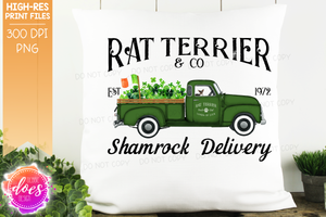 Rat Terrier - Dog Shamrock Delivery Truck  - Sublimation/Printable Design