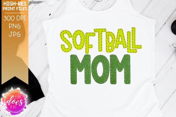 Softball Mom - Applique - Sublimation/Printable Design
