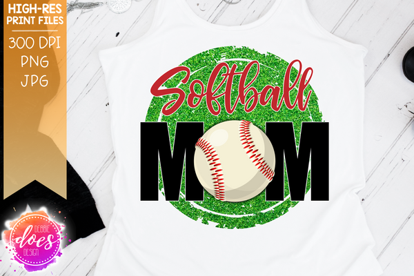 Softball Mom - 2 Versions - Sublimation/Printable Design