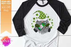 St.Patrick's Day Gnome with Green Gin - Sublimation/Printable Design