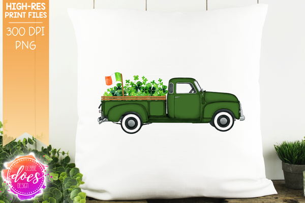 St. Patrick's Day Truck - Green - Sublimation/Printable Design