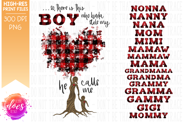 Who Stole My Heart Tree - Customizable Boy Kit - Sublimation/Printable Design