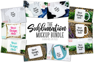 Sublimation Mockup Bundle | 10 High-Res JPG Files - A $40 Value!