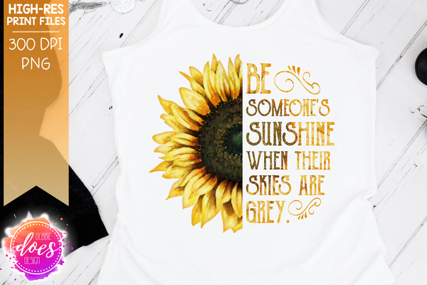 Sunshine Sunflower - Printable/Sublimation File