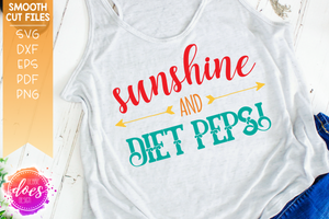 Sunshine and Diet Pepsi - SVG File