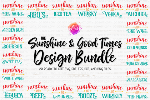 Sunshine and Good Times Bundle - Includes 20 Files! - SVG Files